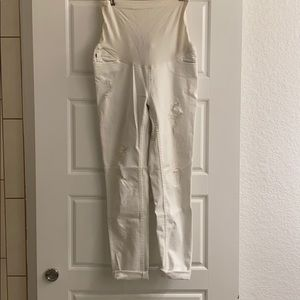 Vigils Maternity White distressed jeans full panel